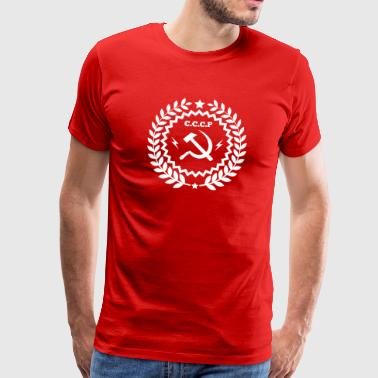 Kommunist Hammer Sickle Badge - Premium T-skjorte for menn