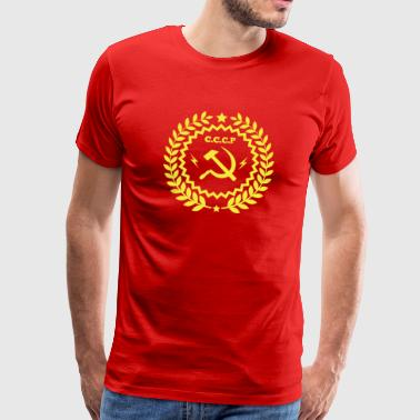 Communistische Hamer Sickle Badge - Mannen Premium T-shirt
