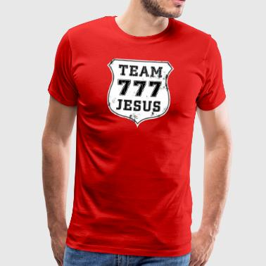 TEAM 777 JESUS ​​EMBLEM - Men's Premium T-Shirt