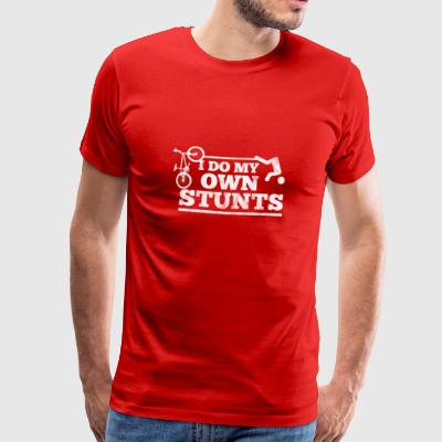 Cyclists do their own stunts - Men's Premium T-Shirt