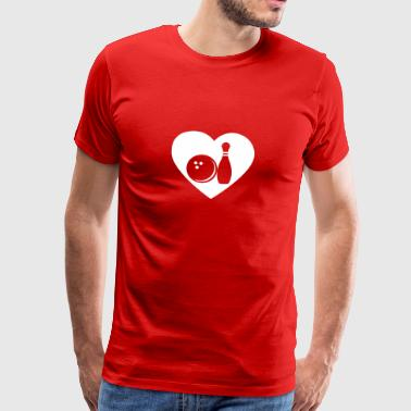 I Love Bowling gift for Bowlers - Men's Premium T-Shirt
