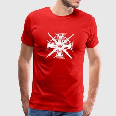 Knights Templar In Hoc Sign Vinces Gift - Premium-T-shirt herr