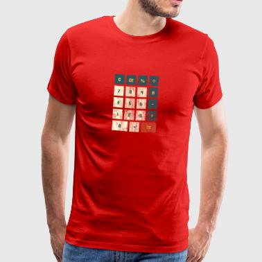 Genius gave calculator matematik beregning - Herre premium T-shirt