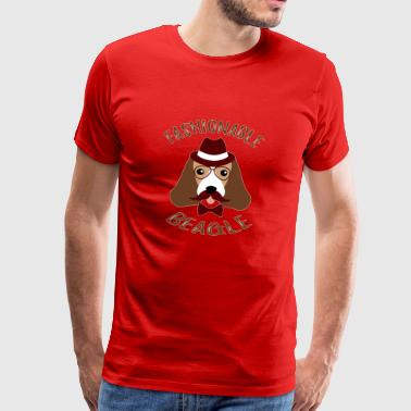 Fashionable Beagle Hiper Vintage Funny Dog - Men's Premium T-Shirt