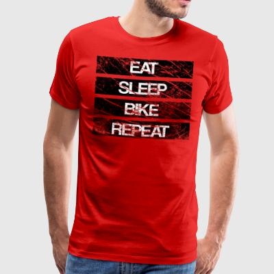 eat sleep bike repeat Used look - Men's Premium T-Shirt