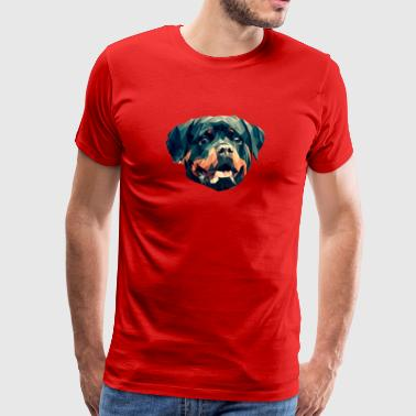 Dog Geometric - Mannen Premium T-shirt