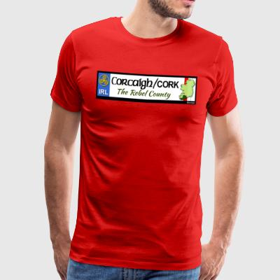 CO. CORK, IRELAND: licence plate tag style decal - Men's Premium T-Shirt