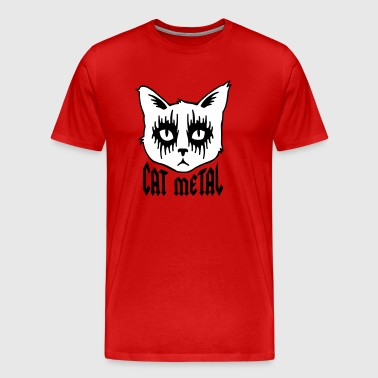 cat metal - Men's Premium T-Shirt