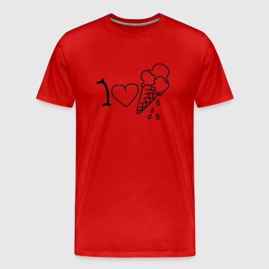 I love icecream - T-shirt Premium Homme