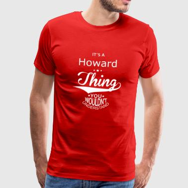 Howard - Premium-T-shirt herr
