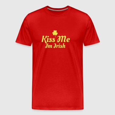 kiss me im Irish excellent - T-shirt Premium Homme