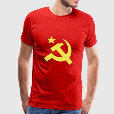 Communist flag Sickle Hammer - Men's Premium T-Shirt