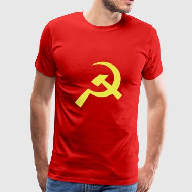 Kommunist Hammer Sickle Flag - Premium T-skjorte for menn