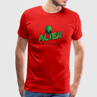 ALIEN Invasion - GREEN - Men's Premium T-Shirt