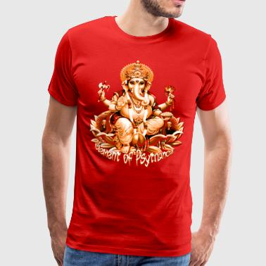 Ganesha - Element of psytrance - Premium-T-shirt herr
