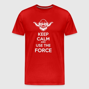 Use The Force Yoda - Mannen Premium T-shirt