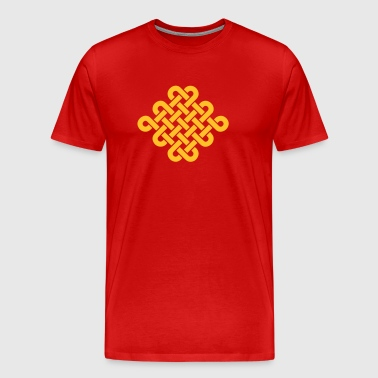 Infinity Buddhism Tibetan endless knot Celtic - Men's Premium T-Shirt