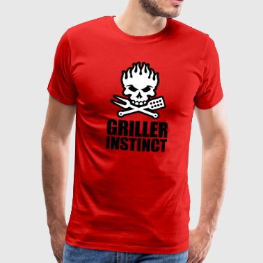 Griller instinct - Men's Premium T-Shirt