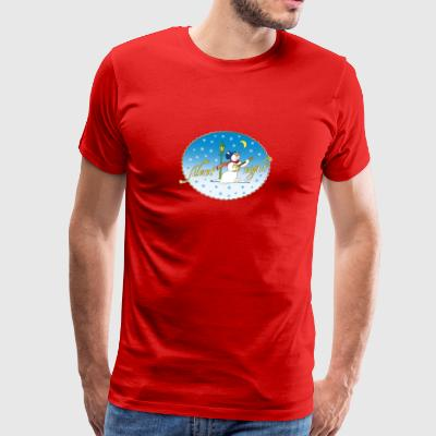 Silent Night snemand Moon Winter Julemanden - Herre premium T-shirt