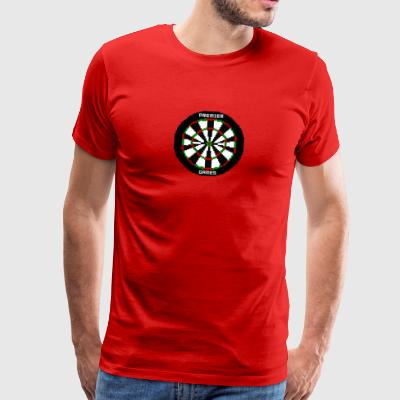 premier games pixelated dartboard - Men's Premium T-Shirt