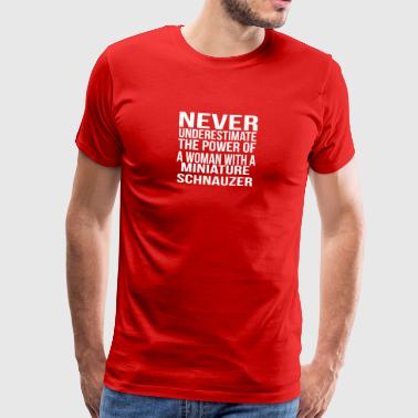 Never underestimate power woman miniature snout - Men's Premium T-Shirt