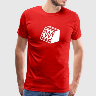 Ouderwetse computerscherm - Mannen Premium T-shirt