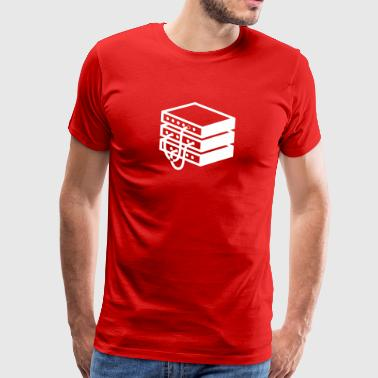 Gammaldags server - Premium-T-shirt herr