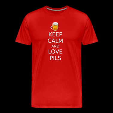 Keep calm and love pils - Men's Premium T-Shirt
