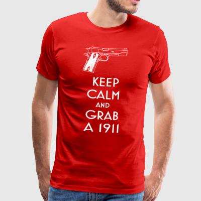 1911 fan t-shirt keep calm preppers shooters - T-shirt Premium Homme