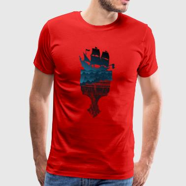 Brush gift ship boat sea sailboat captain - Men's Premium T-Shirt