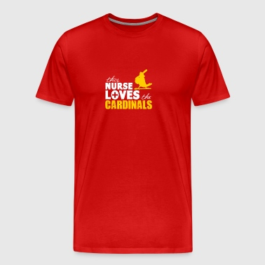 Nurse loves cardinals - Men's Premium T-Shirt