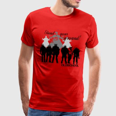 OLDSCHOOL Classic Stand your ground Biker - Men's Premium T-Shirt