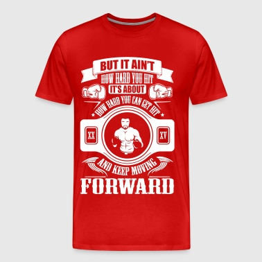 boxing keep movin forward - Men's Premium T-Shirt