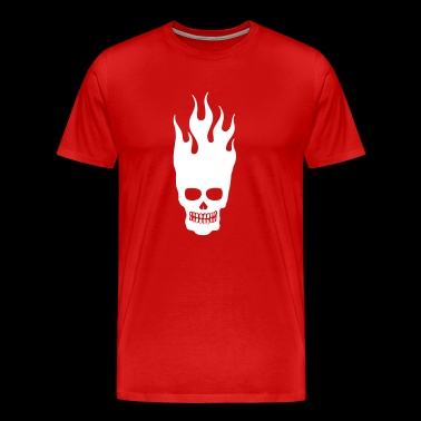 Skull Flames Fire Department Fire Fire Skull 1c - Men's Premium T-Shirt