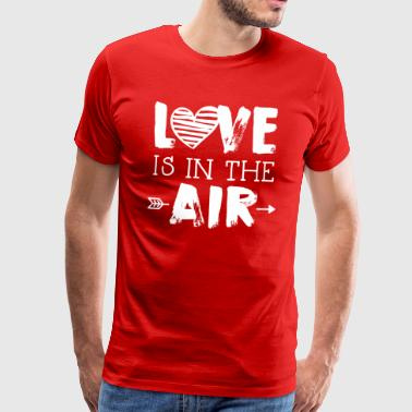 DE LIEFDE IS IN DE LUCHT - Mannen Premium T-shirt