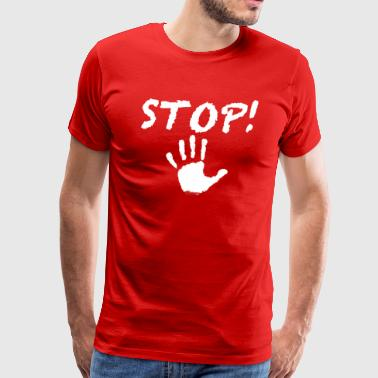 Stop! Hand white Special Edition - Männer Premium T-Shirt