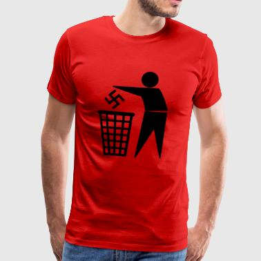 Nazis in the bin - Men's Premium T-Shirt