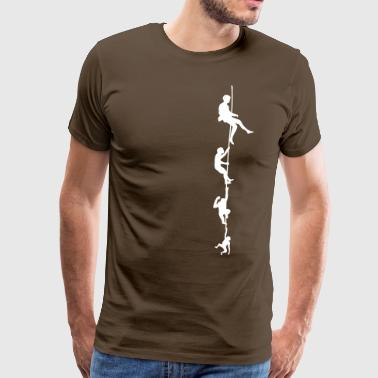 Evolution Corde d'escalade - T-shirt Premium Homme