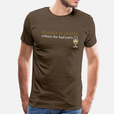 Whisky Whisky is water, bicolor - Herre premium T-shirt