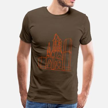 Wilhelm Kaiser Wilhelm Memorial Church Berlin - Men's Premium T-Shirt
