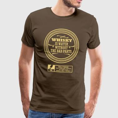Whisky is water - Männer Premium T-Shirt
