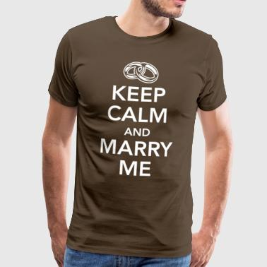 Keep calm and marry me - Maglietta Premium da uomo