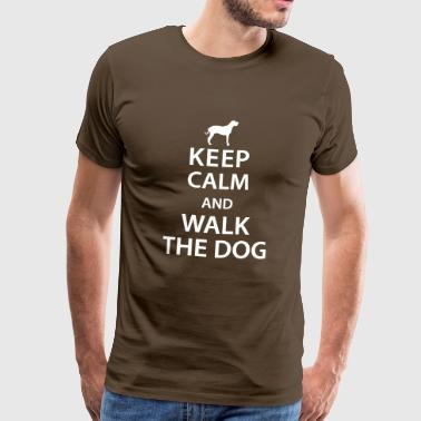 Keep calm and walk the dog - Mannen Premium T-shirt