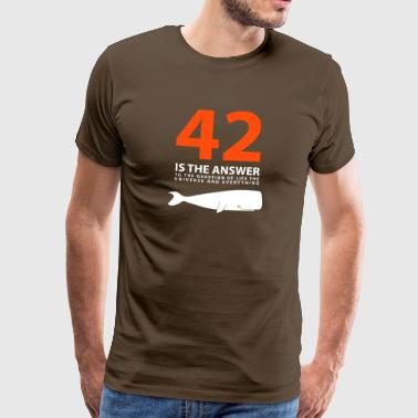 42 Is The Answer Sperm Whale T-shirts - Mannen Premium T-shirt