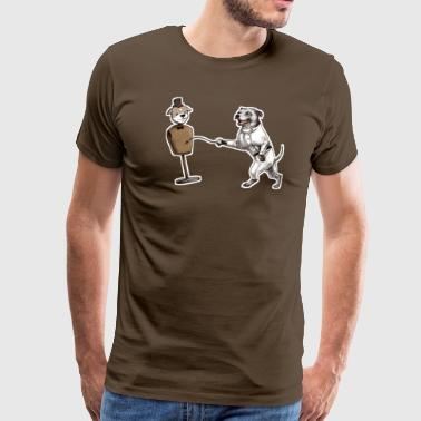 Staffy Dog Staffie Fencer Dark T - Men's Premium T-Shirt