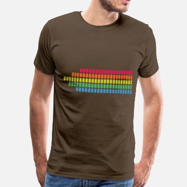 Rainbow Stripes rainbow stripes LED - Men's Premium T-Shirt