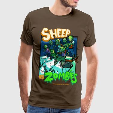 sheep vs zombies - Men's Premium T-Shirt