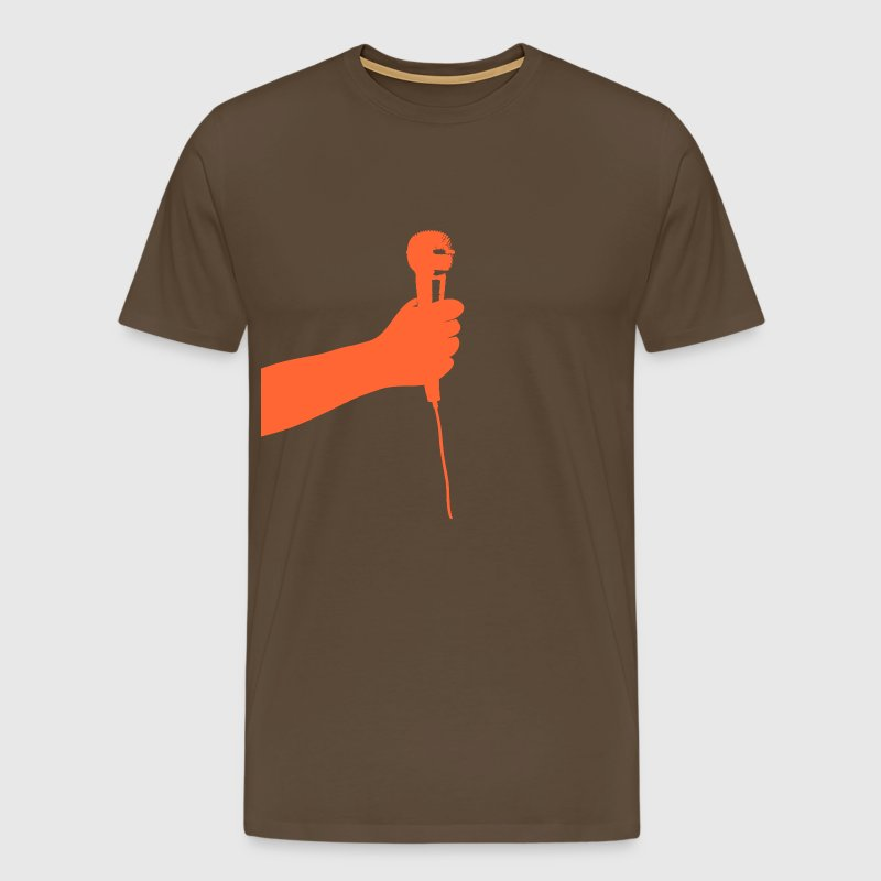 microphone (orange) - Men's Premium T-Shirt