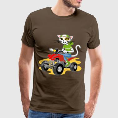Quad Bike Cat and quad - Men's Premium T-Shirt