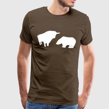 Stock Market - Bull/Taurus & Bear - Men's Premium T-Shirt